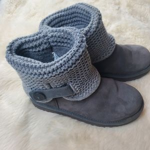 Ugg gray shaina suede boots size 7